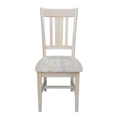 kitchen chairs wood hang a round chair unfinished dining room furniture san remo slat back set of 2