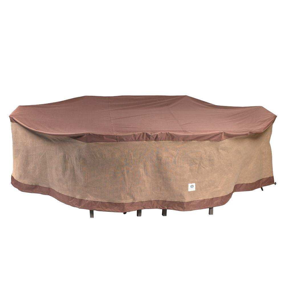 Duck Covers Ultimate 109 in L RectangleOval Patio Table and Chair Set CoverUTO10984  The