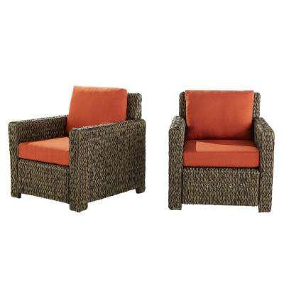 red lounge chair tables tents and rental outdoor chairs patio the home depot laguna point all weather wicker with quarry cushions 2