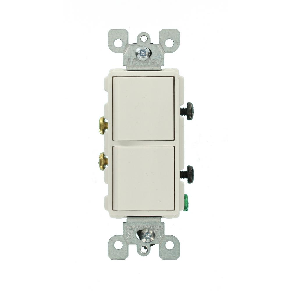 hight resolution of decora 15 amp single pole dual switch white