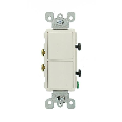 small resolution of decora 15 amp single pole dual switch white