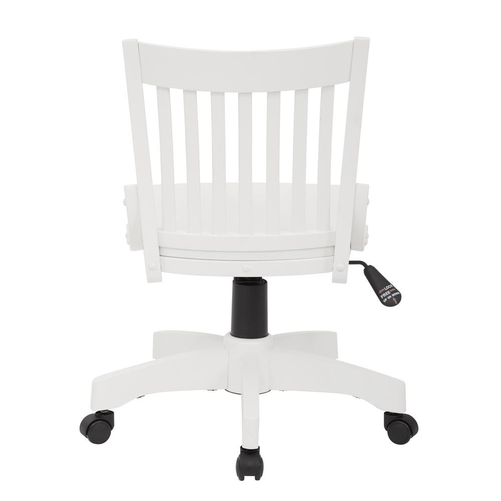 Wooden Bankers Chair Osp Home Furnishings Deluxe White Wood Bankers Chair 101wht The