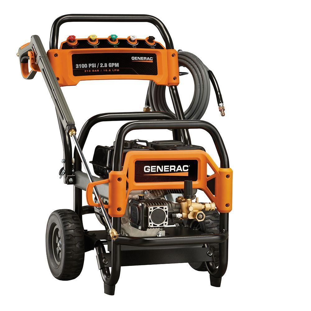medium resolution of generac 3 100 psi 2 8 gpm ohv engine triplex pump gas powered pressure washer