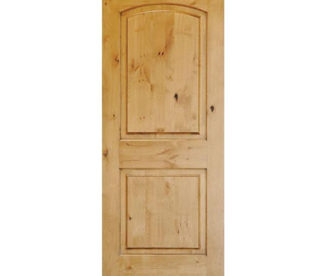 Krosswood Doors  In X  In Rustic Knotty Alder  Panel Top
