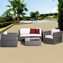 Hanover Orleans Grey 3-piece -weather Wicker Patio