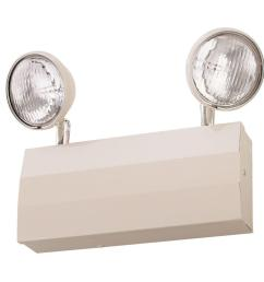 lithonia lighting 2 light 20 gauge chicago approved white emergency fixture unit [ 1000 x 1000 Pixel ]