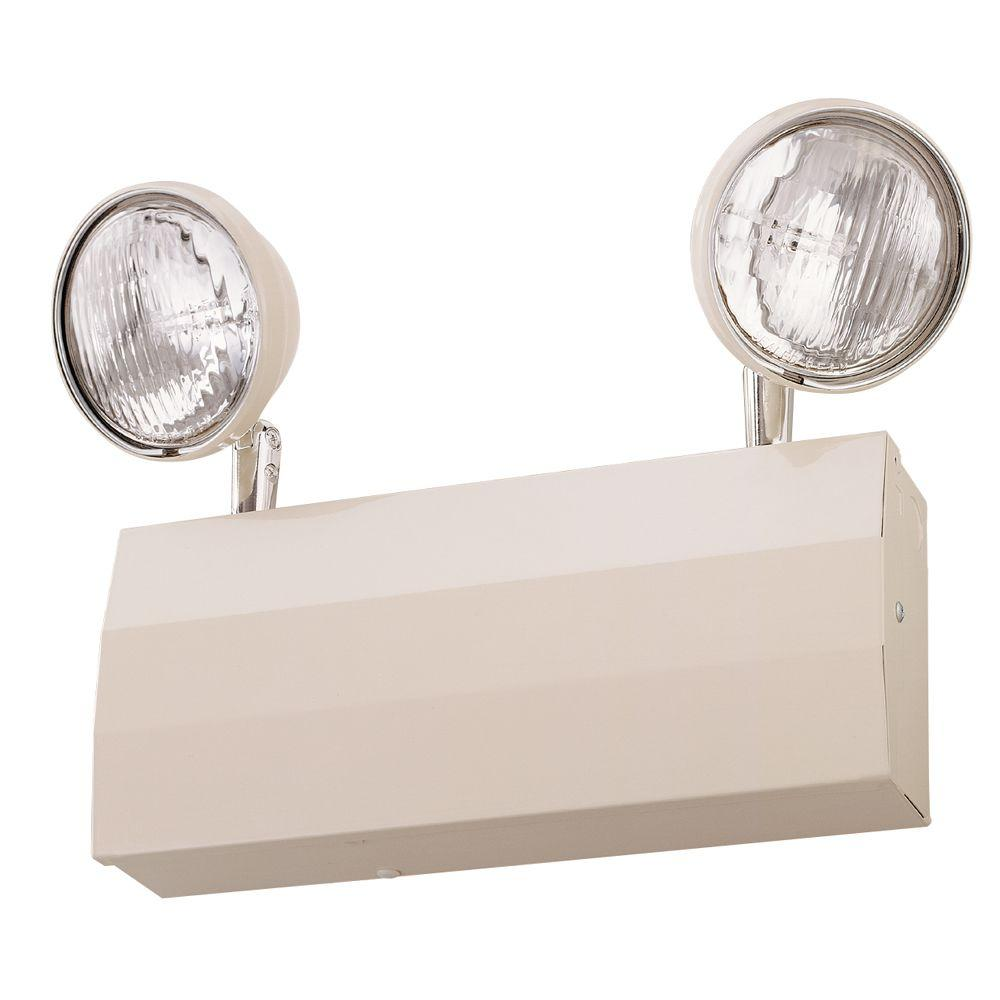 hight resolution of lithonia lighting 2 light 20 gauge chicago approved white emergency fixture unit