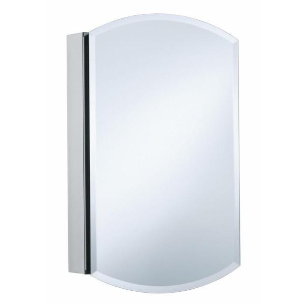 Kohler Archer 20 In. X 31 Single Door Mirrored Recessed Medicine Cabinet In Anodized