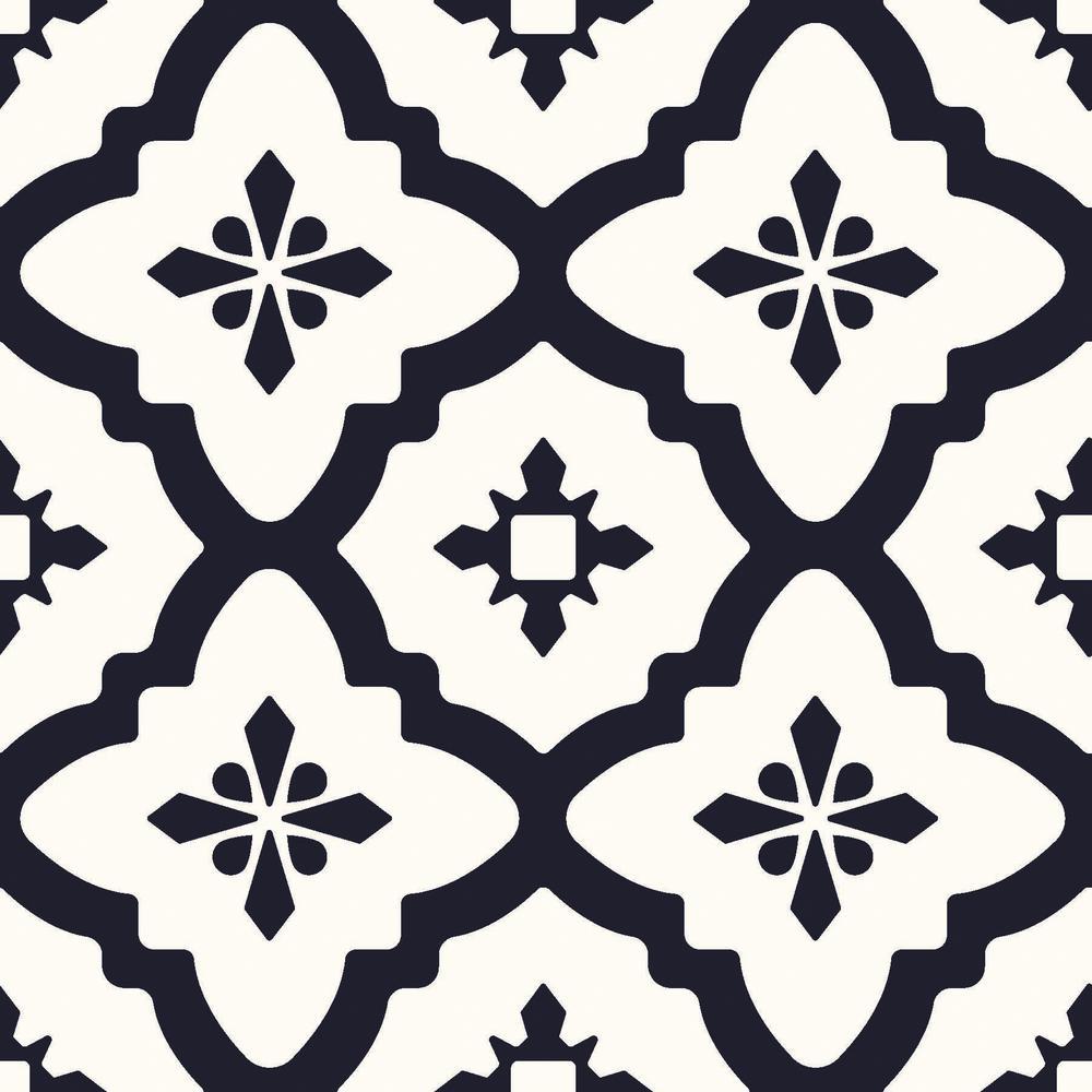 Patterns Floor Vinyl Black And White