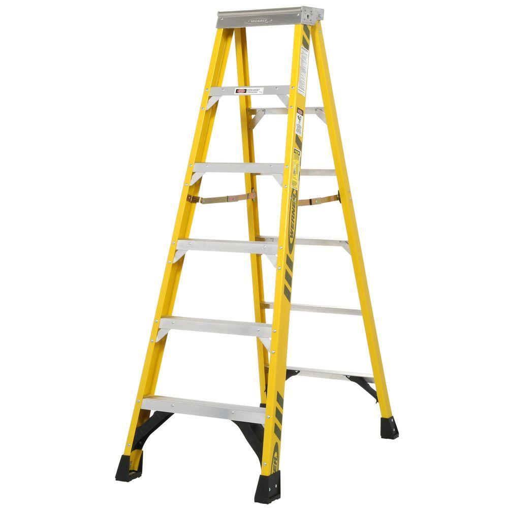Werner 6 ft. Fiberglass Step Ladder with 375 lb. Load