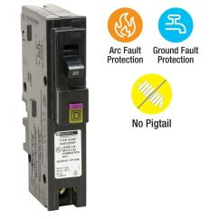 Arc Fault Circuit Breaker Wiring Diagram Brain Parts And Functions Square D Homeline 20 Amp Single Pole Plug On Neutral Dual Function Cafci Gfci Provides Protection