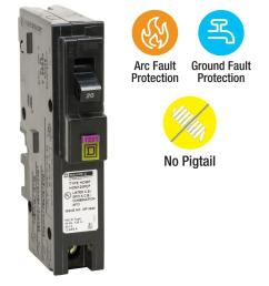 homeline 20 amp single pole plug on neutral dual function cafci and gfci [ 1000 x 1000 Pixel ]
