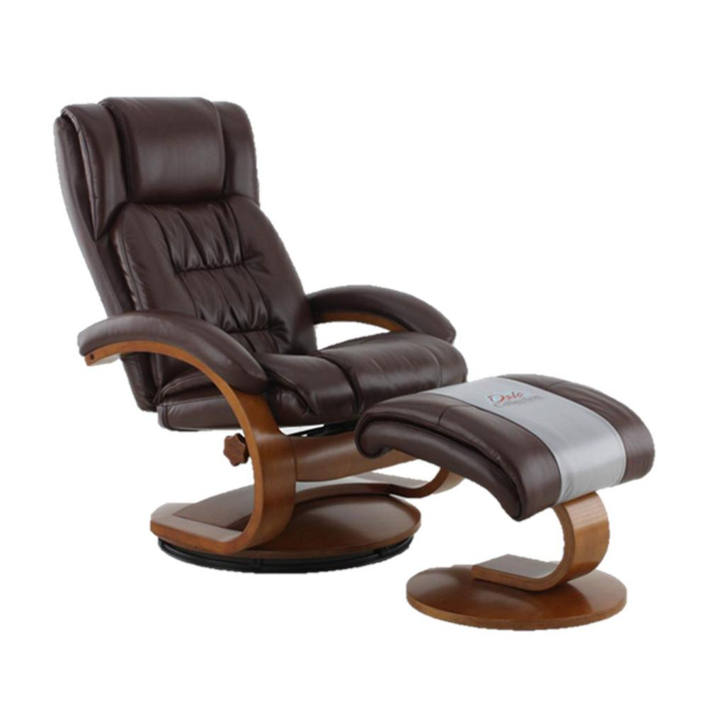 leather swivel recliner chair and ottoman ergonomic hurts my back mac motion oslo collection whisky breathable air with