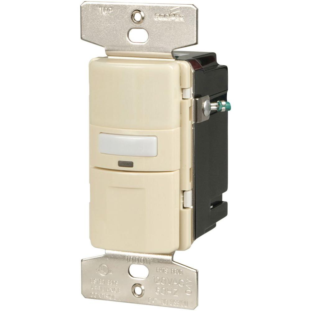 hight resolution of eaton motion activated occupancy sensor wall switch almond os310u turn offfind cooper wiring devices amp almond motion motion