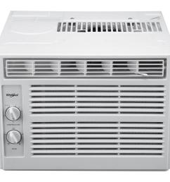whirlpool 5 000 btu 115 volt window air conditioner with dehumidifier and mechanical controls [ 1000 x 1000 Pixel ]