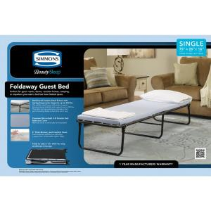 Internet 301854246 Simmons Beautysleep Foldaway Cot Single Steel Guest Bed Frame