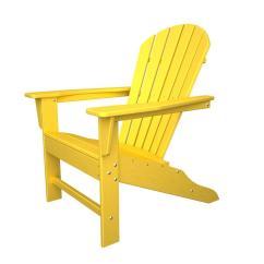 Beach Chairs Home Depot Bedroom Chair Mink Polywood South Lemon Plastic Patio Adirondack Sba15le The