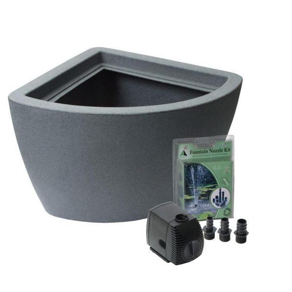 Algreen Hampton 35 Gal. Dig Pond Kit In Charcoal-35002