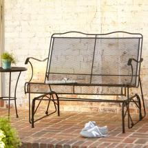 Wrought Iron Patio Furniture Glider