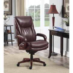 Desk Chair Brown Leather Bad Posture In La Z Boy Edmonton Coffee Bonded Executive Office