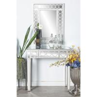 White Wall Mirror and Console Table Set-58753 - The Home Depot