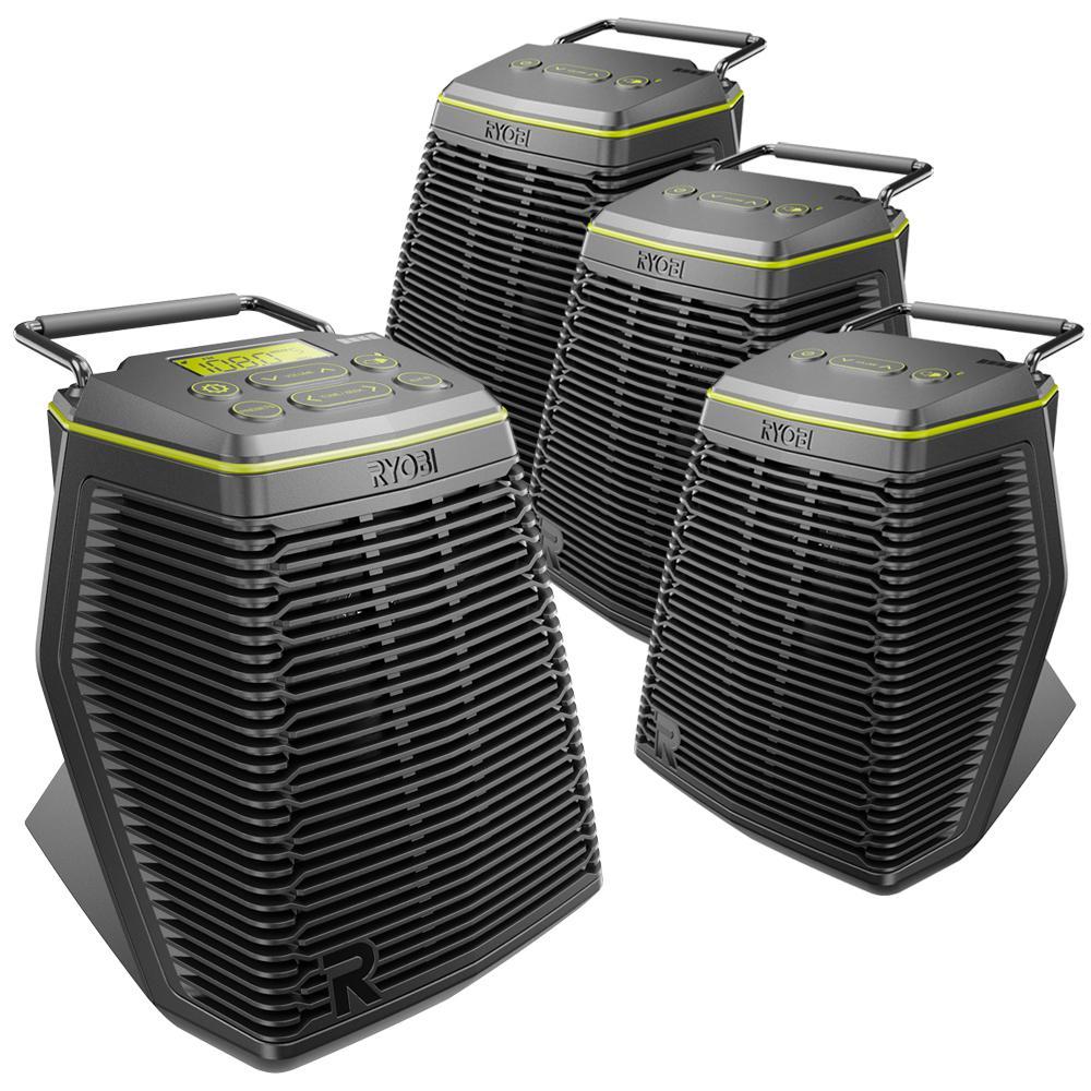 volt speakers honda z50 k1 wiring diagram ryobi 18 one hybrid score 4 piece speaker set with 1 primary wireless and 3 secondary