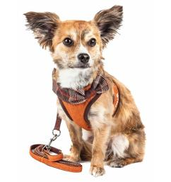 pet life luxe pawsh small 2 in 1 adjustable dog harness leash with fashion [ 1000 x 1000 Pixel ]