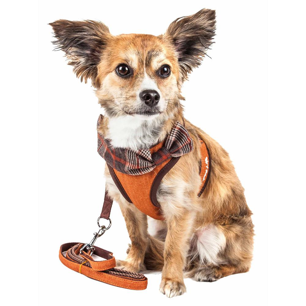 medium resolution of pet life luxe pawsh small 2 in 1 adjustable dog harness leash with fashion