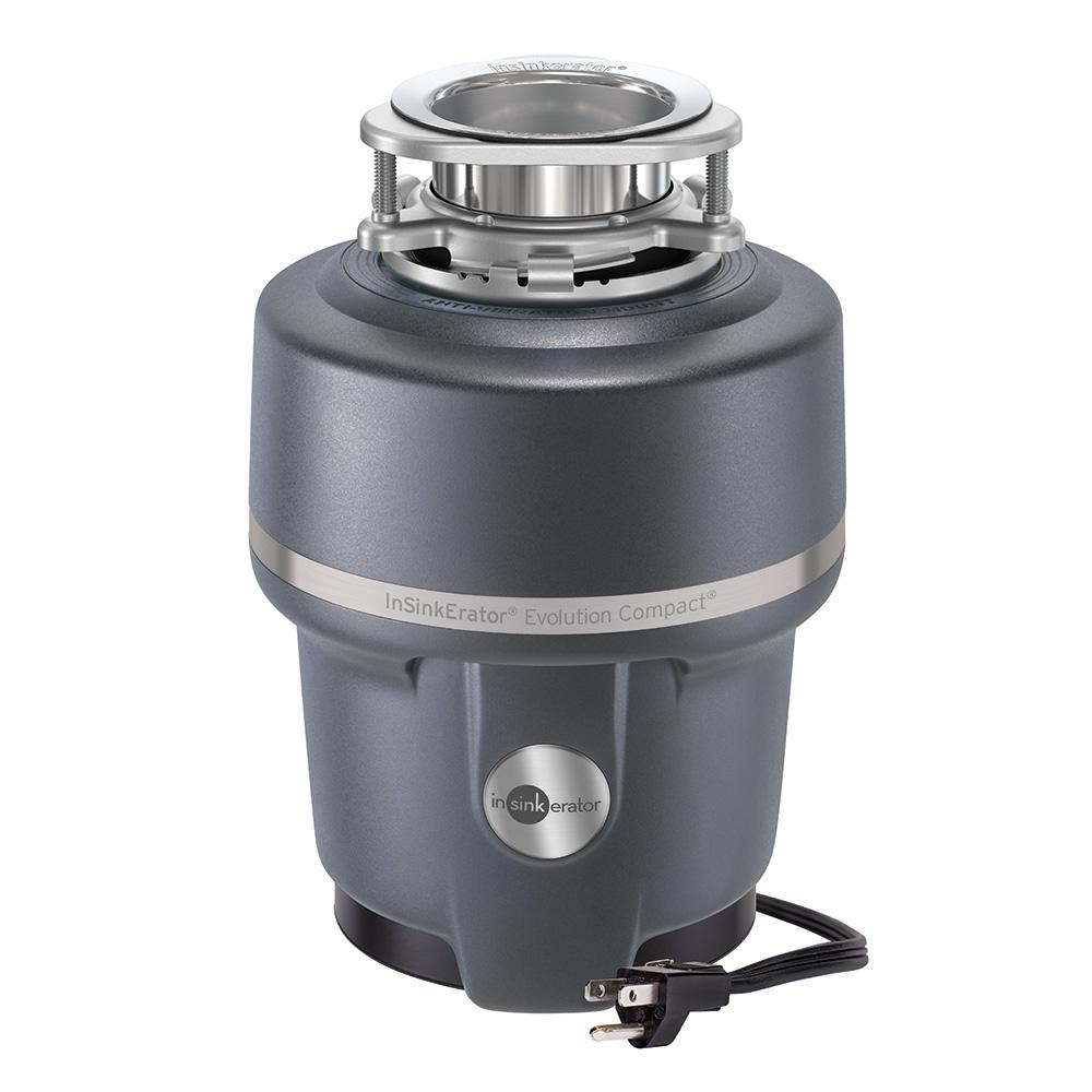 kitchen disposal commercial tile insinkerator evolution compact 3 4 hp continuous feed garbage with power cord
