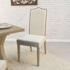 Cream Upholstered Dining Chairs Acrylic Chair With Gold Legs Wood Kitchen Room Furniture Romero Linen Parsons