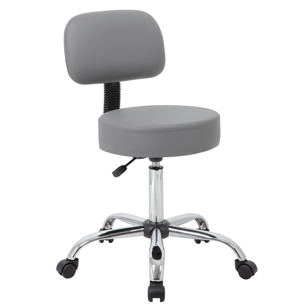 office chair back cushion rail accessories boss grey caressoft medical stool with b245 gy the