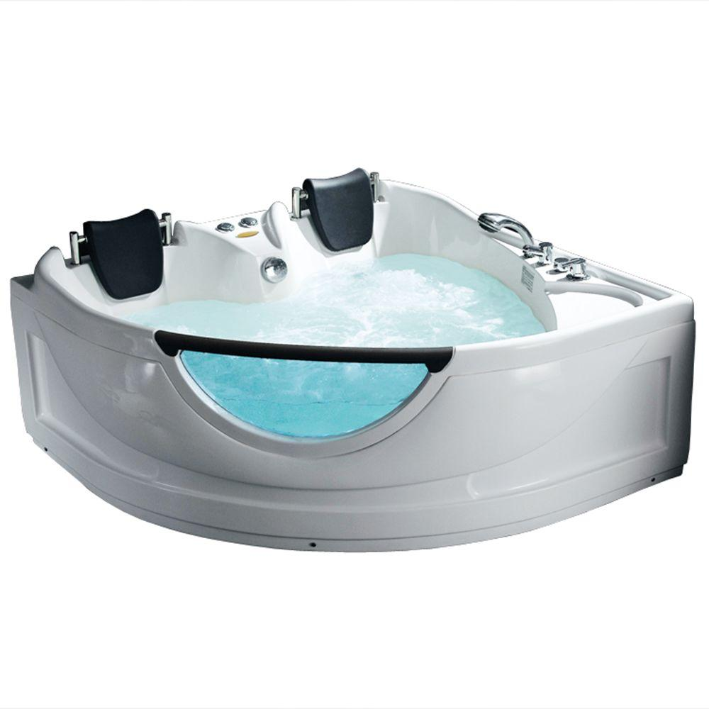 Ariel 5 Ft Whirlpool Tub In White BT 150150 The Home Depot