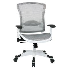 Grey Material Office Chair Folding Wooden Chairs Space Seating White And Manager 317w W11c1f2w