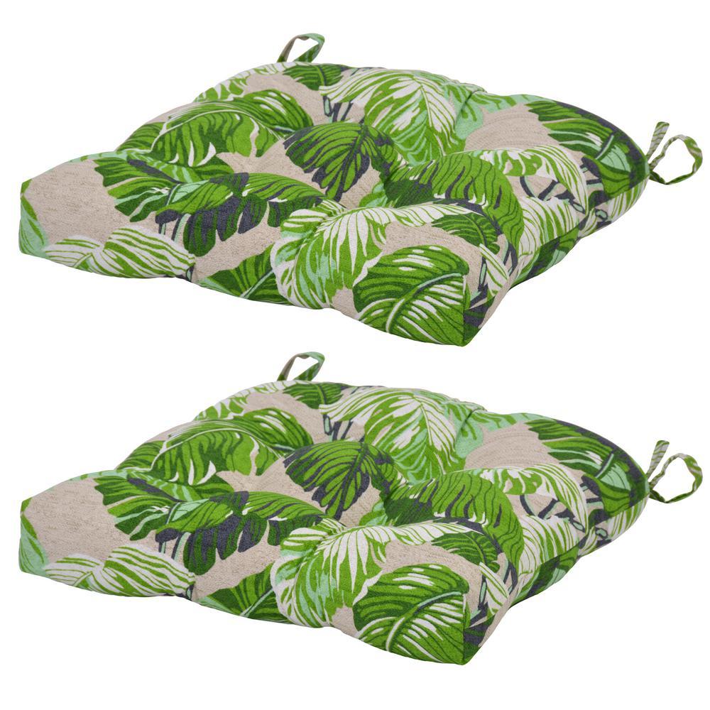 green chair cushions parsons fern tropical outdoor seat cushion 2 pack