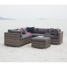 Walker Edison Furniture Company Gray 4-piece Wicker Patio