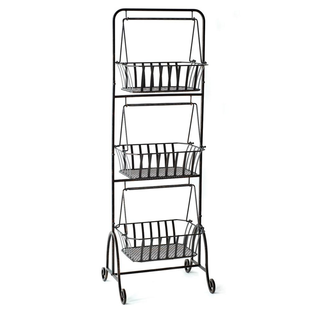Gourmet Basics by Mikasa 3-Tier Wire Market Basket-5216453