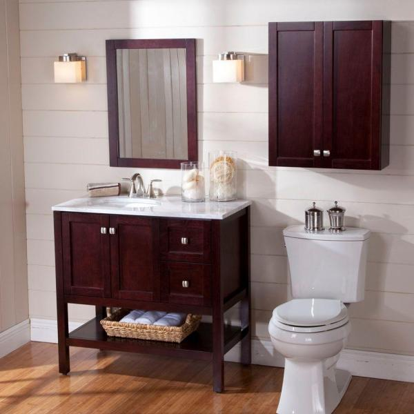 Toilet Space Saver Wooden Wall Cabinet
