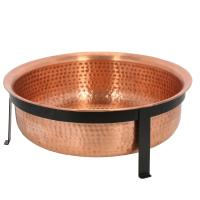CobraCo Hand Hammered 100% Copper Fire Pit