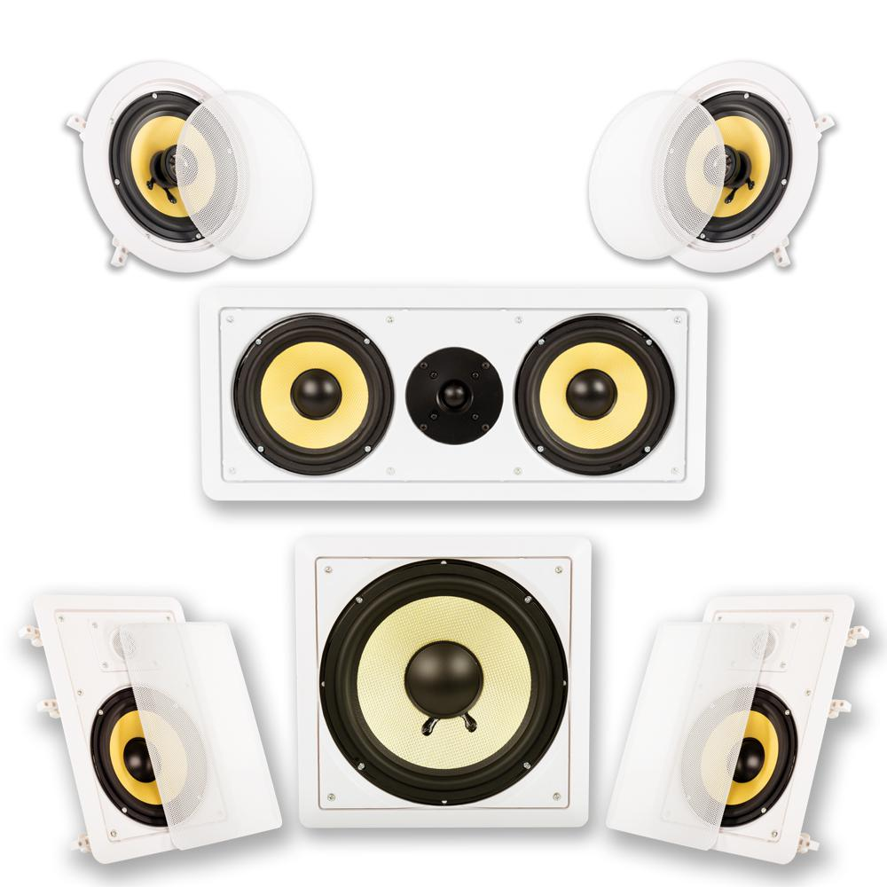 hight resolution of in wall ceiling home theater surround 5 1 speaker system