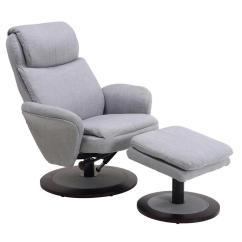 Recliner Vs Chair With Ottoman Twin Sleeper Mac Motion Comfort Light Grey Fabric Swivel Denmark 180 200 The Home Depot