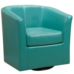 Turquoise Chairs Leather Cool Comfy Noble House Daymian Pu Swivel Club Chair 296641
