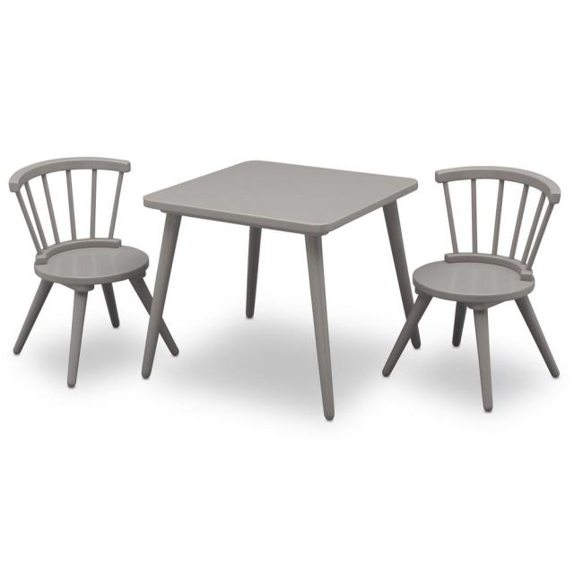 Delta Children Grey Windsor Table And 2 Chair Set