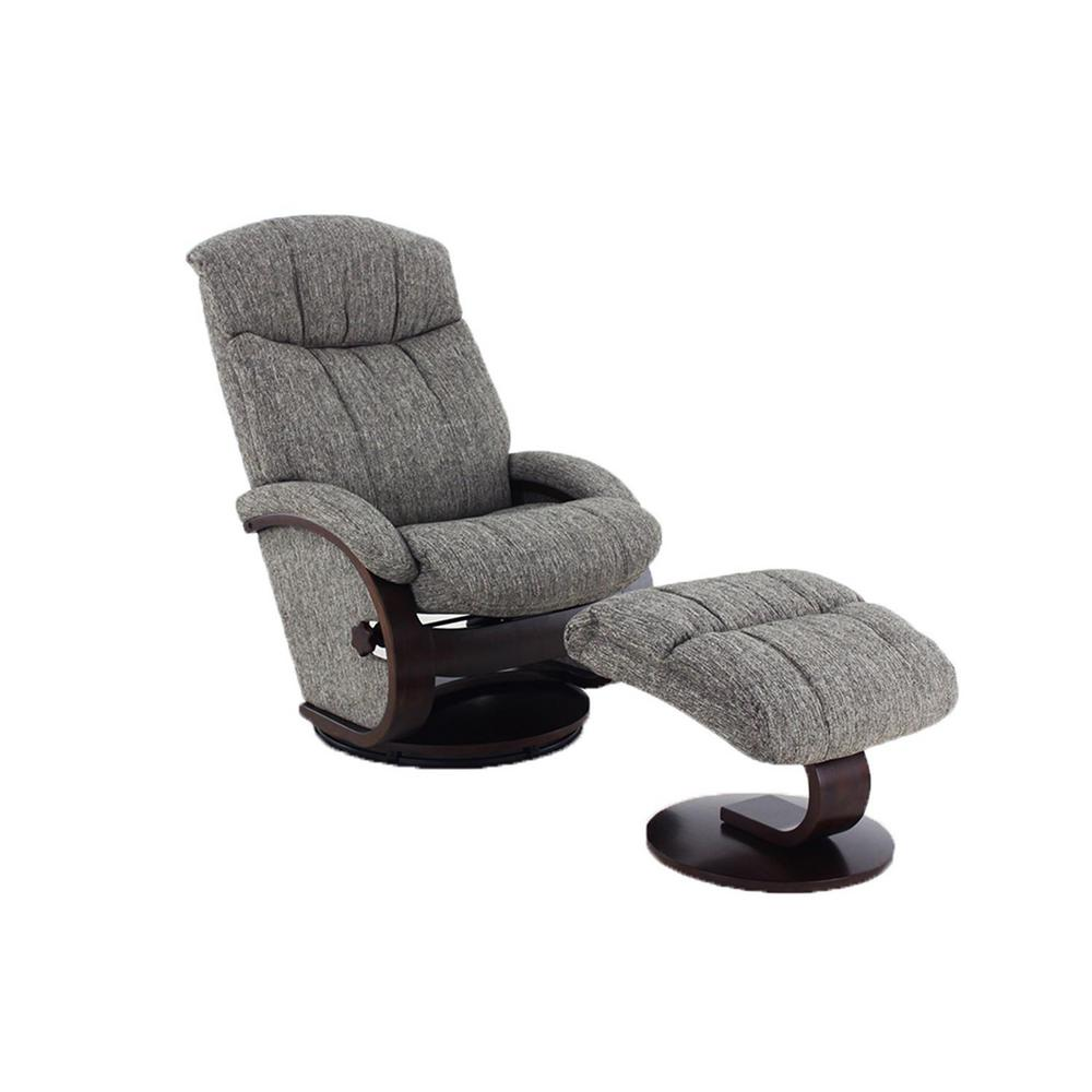 Mac Motion Chairs Mac Motion Chairs Oslo Collection Alta Teatro Graphite Fabric Recliner With Ottoman