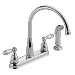 Four Hole Kitchen Faucets Aid Artisan Sale 4 The Home Depot Foundations 2 Handle Standard Faucet With Side Sprayer In Chrome
