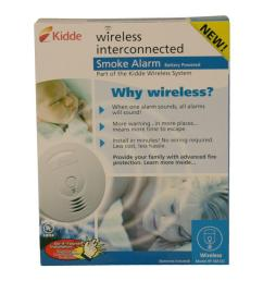 4 kidde battery operated smoke detector with wire free interconnect [ 1000 x 1000 Pixel ]