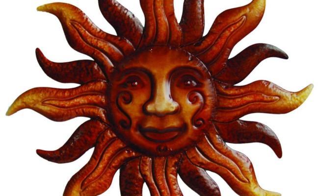 Arcadia Garden Products 20 In Dia Metal Bronze Sunface