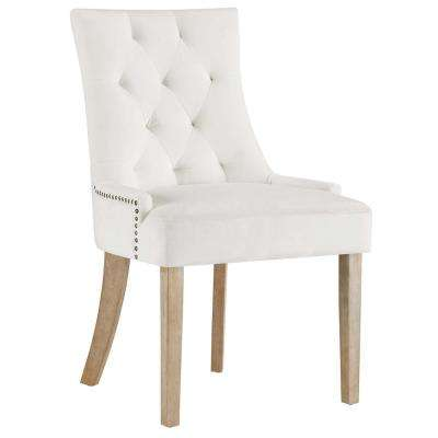 white fabric dining chairs maple parsons chair kitchen room pose ivory upholstered