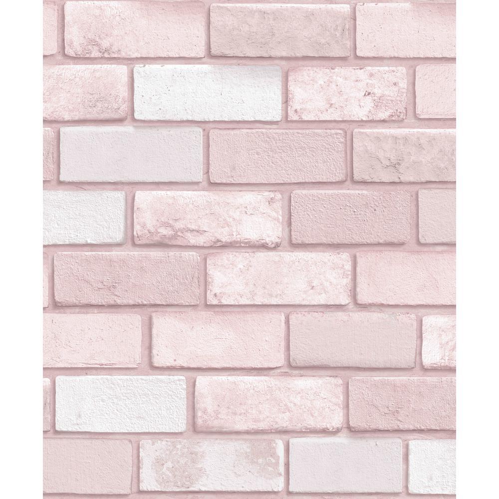 brick wallpaper home decor