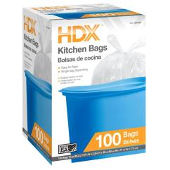 Kitchen Bags Installing Backsplash Tile Sheets Hdx 13 Gal Trash With Flap Tie 100 Count Hd13wc100w