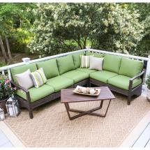 Green Conversation Patio Set with Cushions